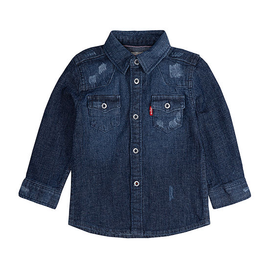 Levi's Girls Long Sleeve Button-Front Shirt Baby