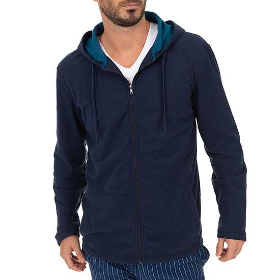 Van Heusen Mens Fleece Pajama Top Long Sleeve