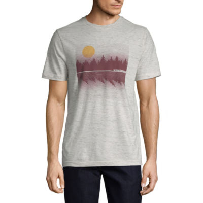 St. John's Bay Outdoor Mens Crew Neck Short Sleeve Graphic T-Shirt