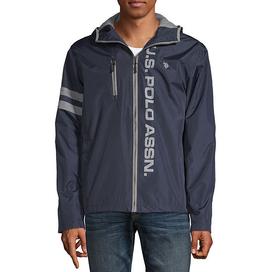 U.S. Polo Assn. Microfiber Hooded Midweight Windbreaker