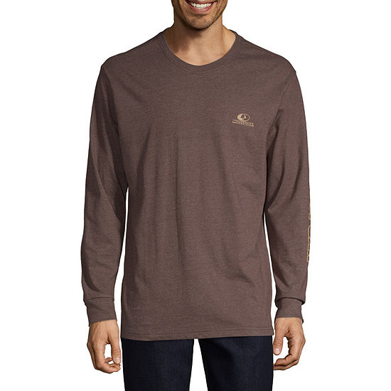 Mossy Oak Mens Crew Neck Long Sleeve Graphic T-Shirt