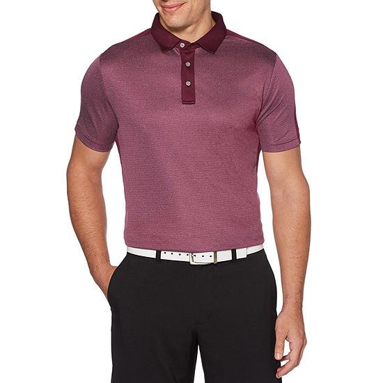 PGA TOUR Mens Crew Neck Short Sleeve Polo Shirt
