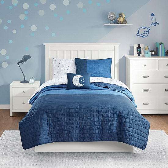 Mi Zone Kids Morgan Solid Complete Coverlet and Sheet Set