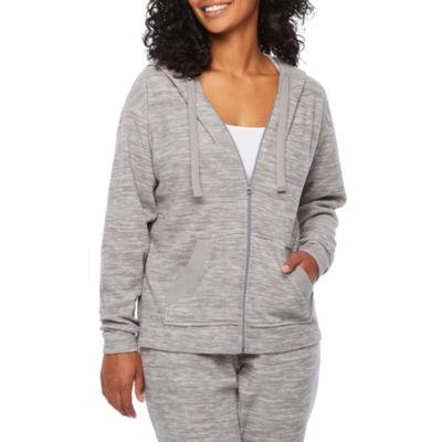St. John's Bay Active Womens Long Sleeve Fleece Hoodie