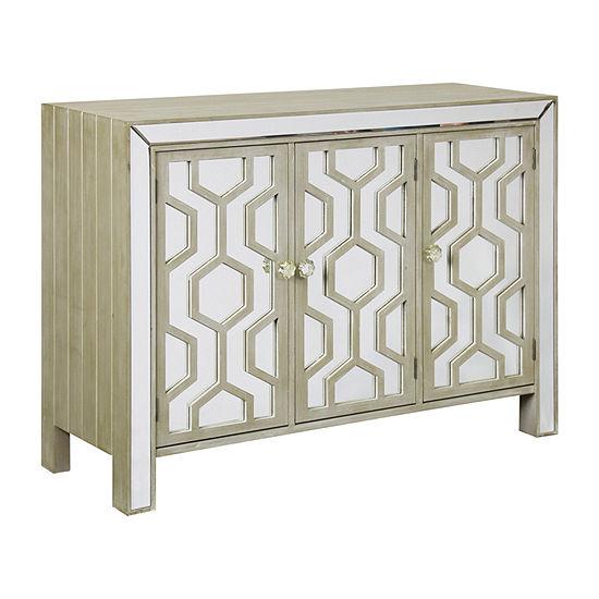 Stylecraft Mirrored Wood Accent Cabinet