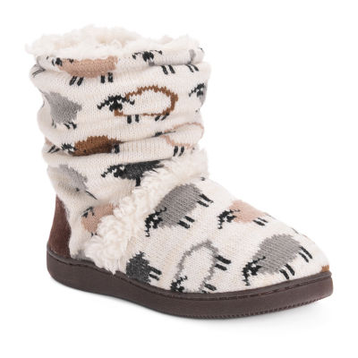Muk Luks Holly Womens Bootie Slippers