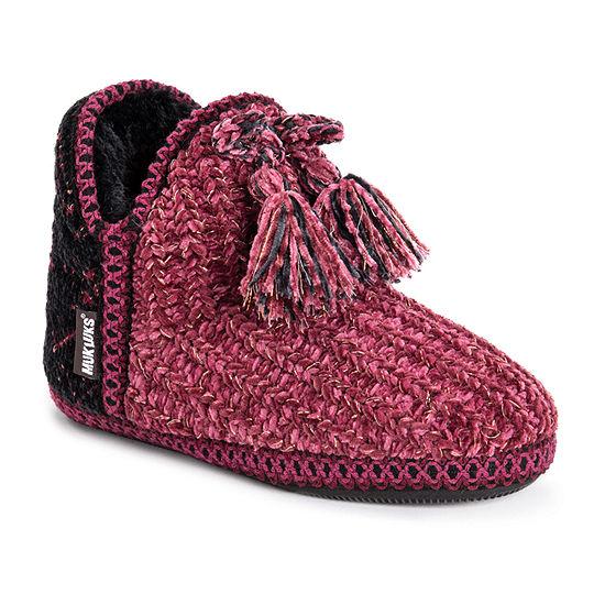 Muk Luks Mollie Womens Bootie Slippers
