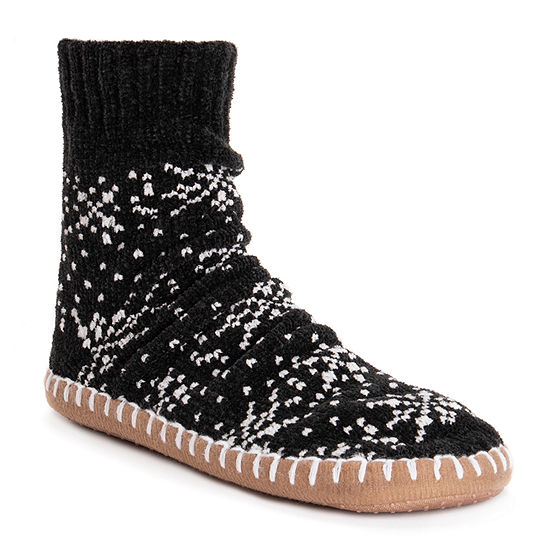 Muk Luks Chenille Short Womens Bootie Slippers