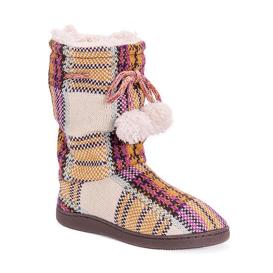 Muk Luks Gladys Womens Bootie Slippers