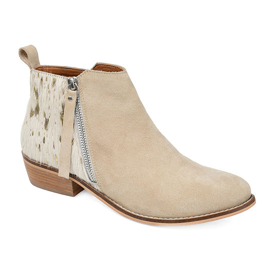 Journee Signature Womens Shalece Booties Stacked Heel