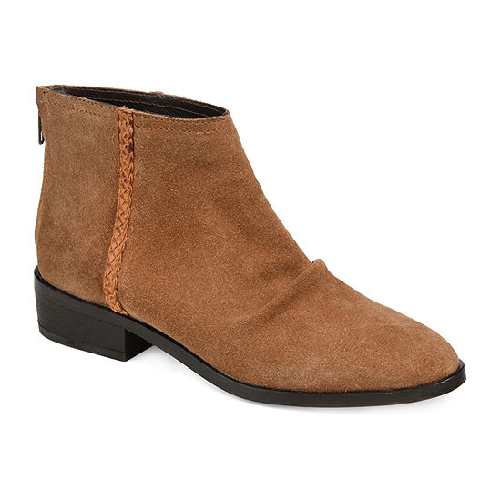 Journee Signature Womens Bree Booties Stacked Heel