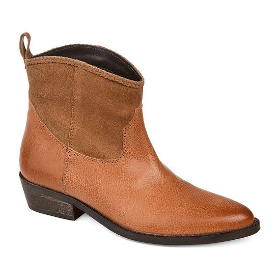 Journee Signature Womens Carmela Booties Stacked Heel