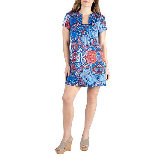 24/7 Comfort Square Neck Shortsleeve Dress-Maternity