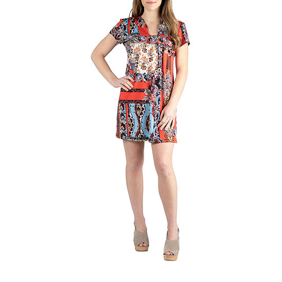 24/7 Comfort Shortsleeve Short Dress-Maternity