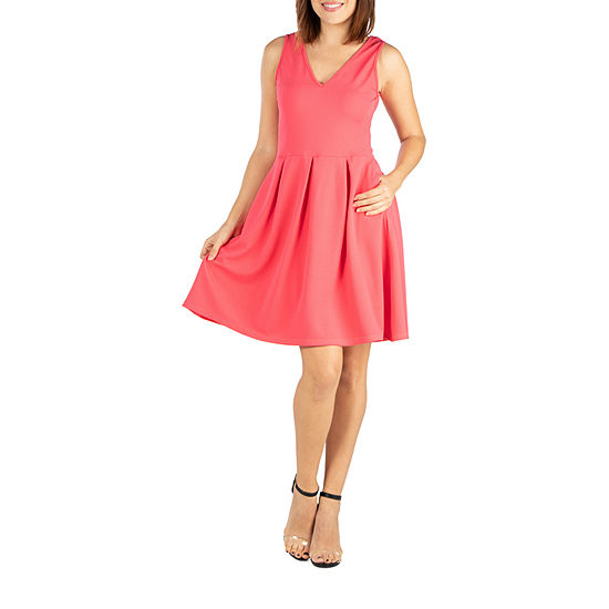 24/7 Comfort Fit and Flare Dress-Maternity