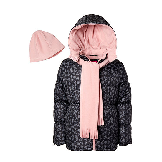 Pink Platinum Little & Big Girls Hooded Heavyweight Puffer Jacket