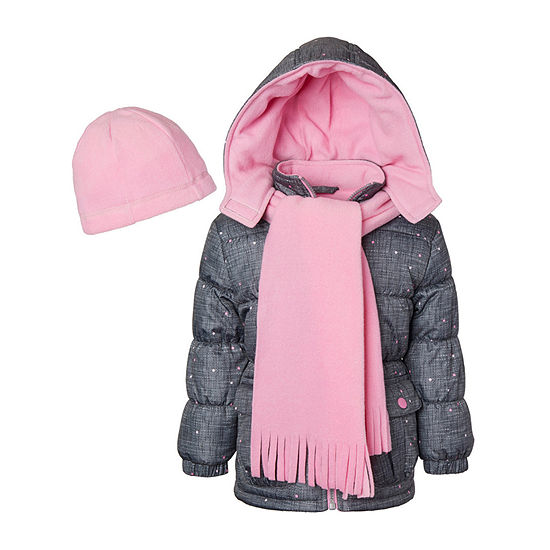 Pink Platinum - Girls Hooded Fleece Lined Heavyweight Puffer Jacket Preschool / Big Kid