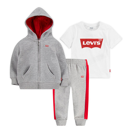 Levi's Boys 3-pc. Logo Track Suit Baby