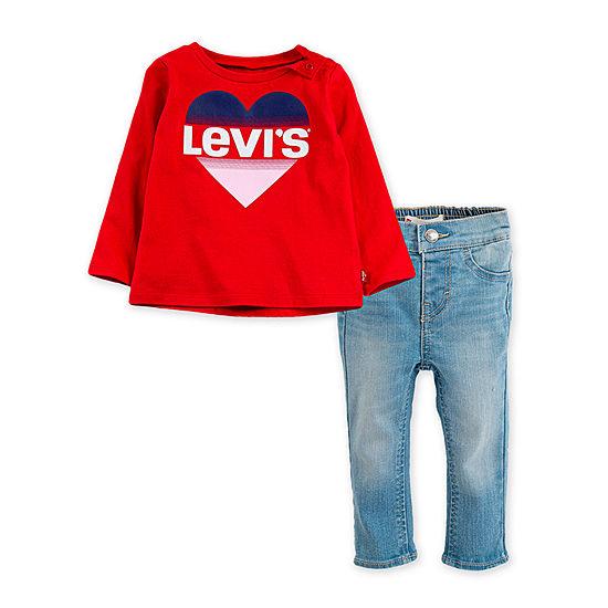 Levi's Girls 2-pc. Logo Pant Set Baby