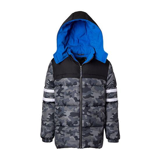 iXtreme - Boys Fleece Lined Heavyweight Puffer Jacket-Big Kid