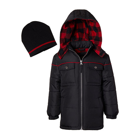 iXtreme - Boys Fleece Lined Heavyweight Puffer Jacket-Big Kid