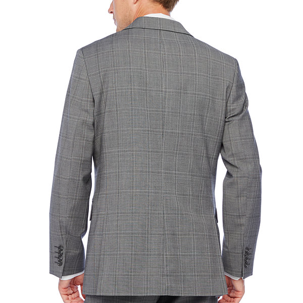Stafford Super Plaid Classic Fit Stretch Suit Jacket