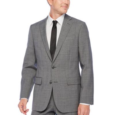 Stafford Super Plaid Classic Fit Stretch Suit Jacket