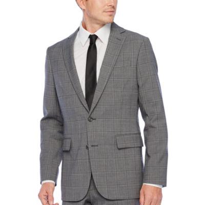 Stafford-Plaid Super Slim Fit Stretch Suit Jacket
