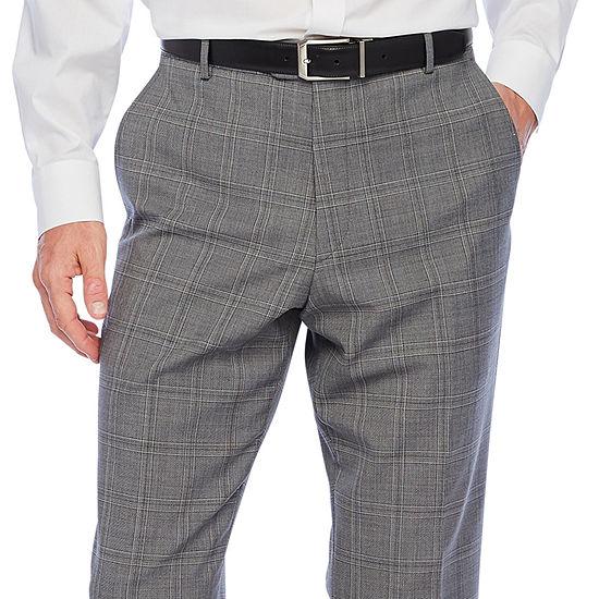 Stafford Super Plaid Slim Fit Stretch Suit Pants