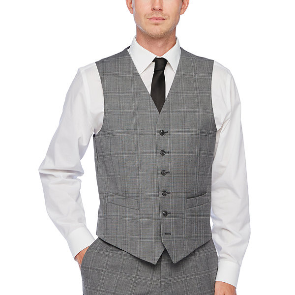 Stafford Super Plaid Stretch Suit Vest