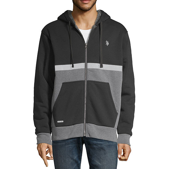 U.S. Polo Assn. Hooded Midweight Fleece Jacket