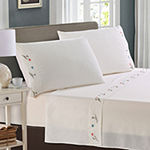 Harper Lane Tropic Malinche Pipers Embroidered Microfiber Easy Care Sheet Set