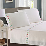 Harper Lane Tropic Malinche Flips Embroidered Microfiber Easy Care Sheet Set