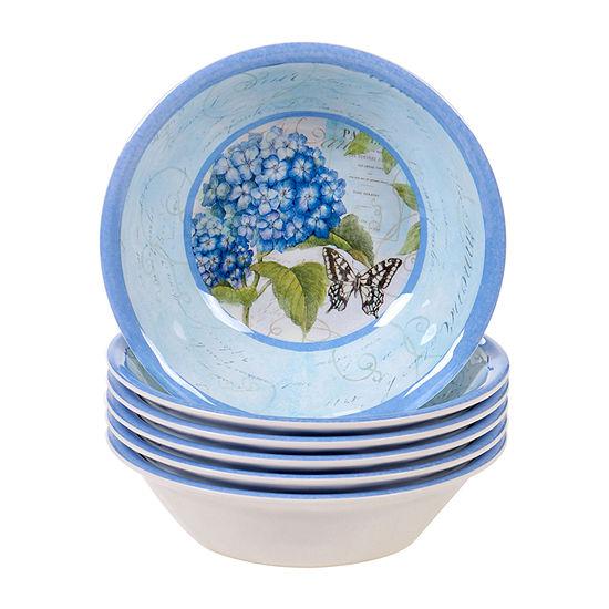 Certified International Hydrangea 6-pc. Ice Cream Bowl