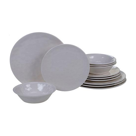 Certified International Solid Color Melamine 12-pc. Dinnerware Set