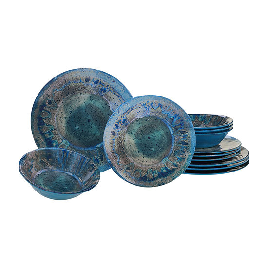 Certified International Radiance Teal 12-pc. Dinnerware Set