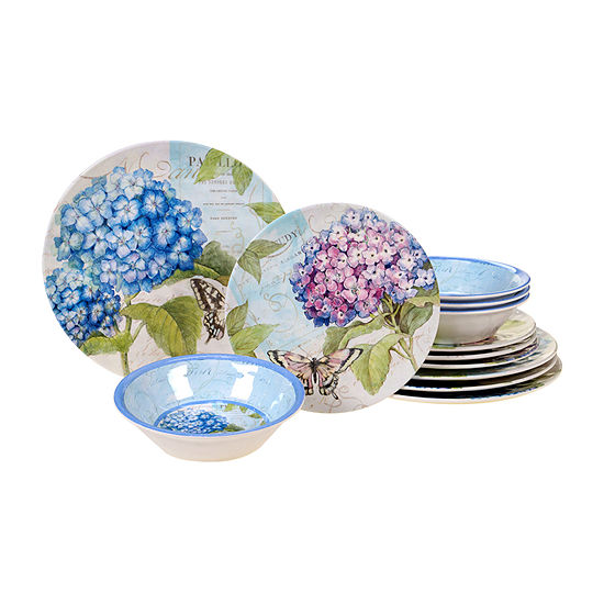 Certified International Hydrangea 12-pc. Dinnerware Set