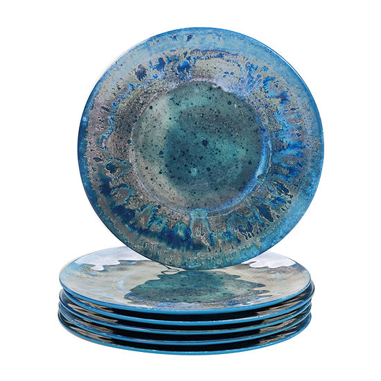 Certified International Radiance Teal 6-pc. Dinner Plate