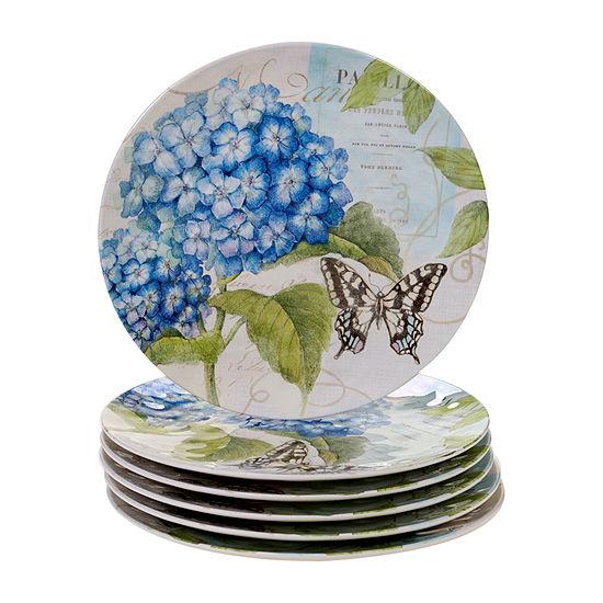 Certified International Hydrangea 6-pc. Dinner Plate