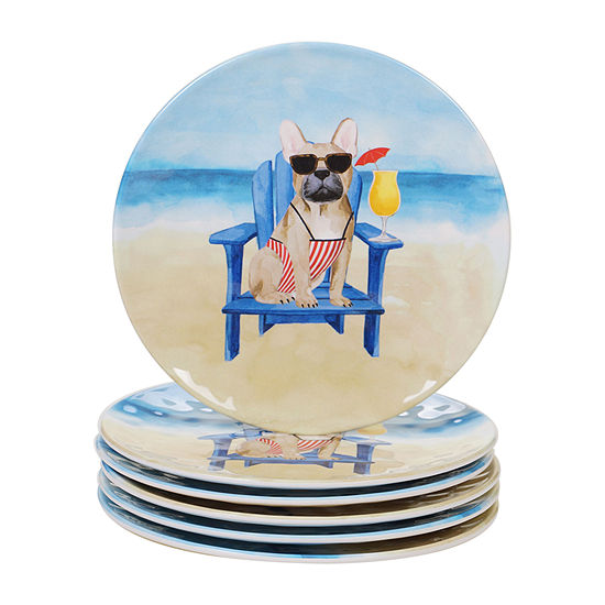 Certified International Hot Dogs 6-pc. Salad Plate