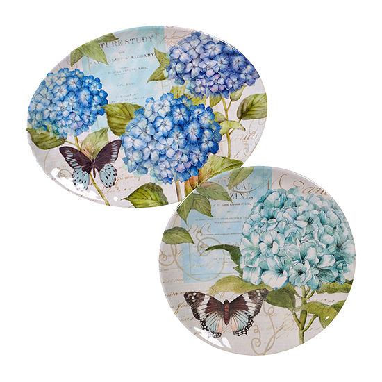 Certified International Hydrangea 2-pc. Serving Set