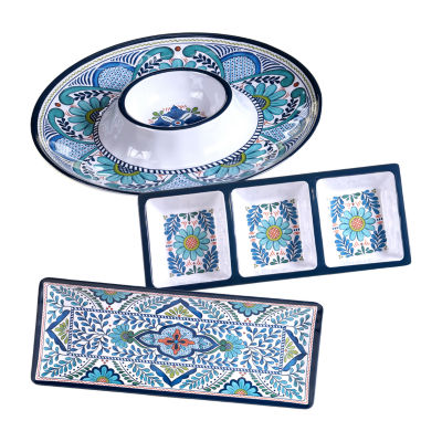 Certified International Talavera 3-pc. Serving Set