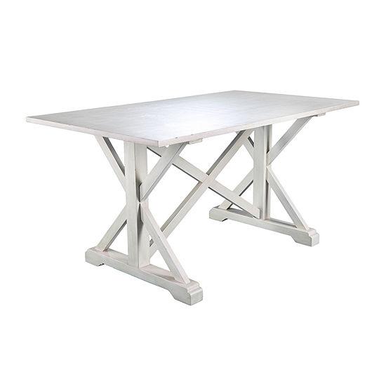 Southern Enterprises Macla Table Rectangular Wood-Top Dining Table