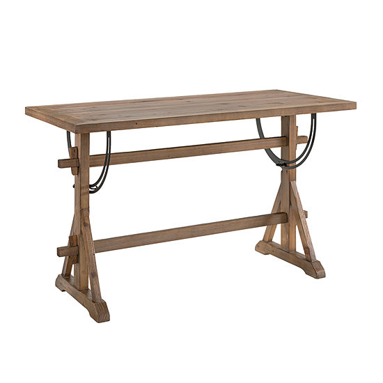 Southern Enterprises Oldbuc Table Rectangular Wood-Top Dining Table