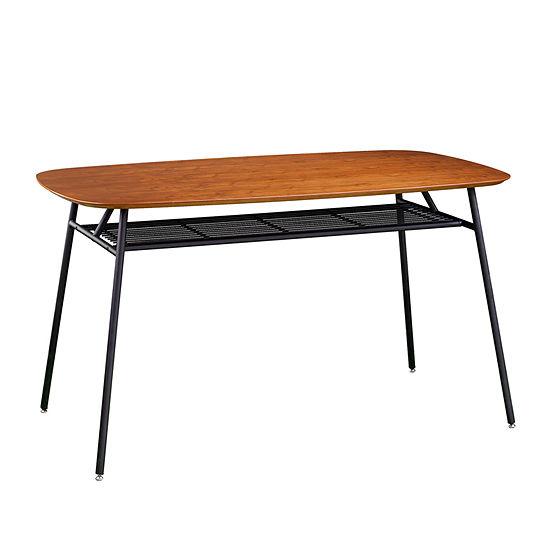 Southern Enterprises Bicreek Table Rectangular Wood-Top Dining Table