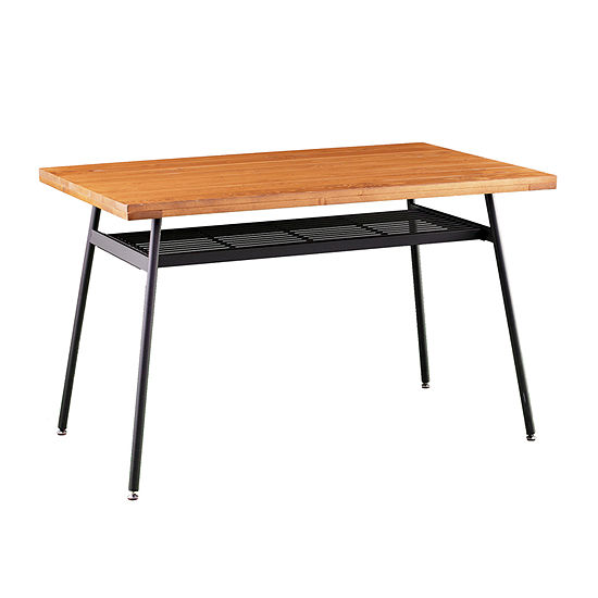 Southern Enterprises Aucksed Table Rectangular Wood-Top Dining Table