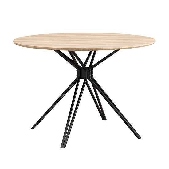 Southern Enterprises Rockmel Table Round Wood-Top Dining Table