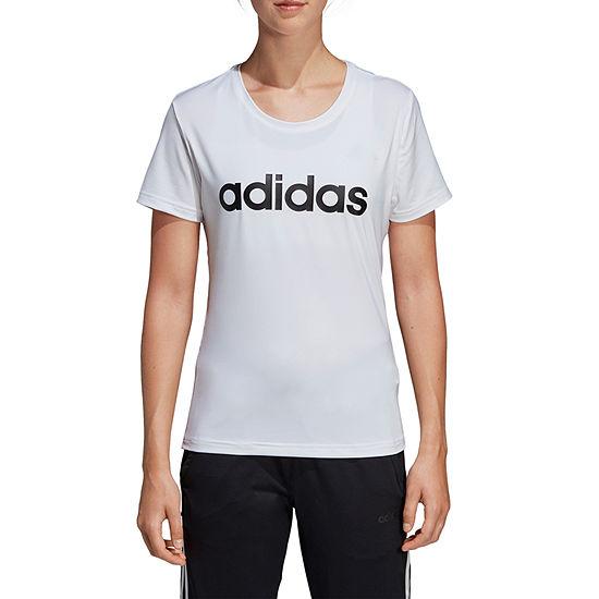 adidas Designed To Move Tee-Womens Crew Neck Short Sleeve T-Shirt