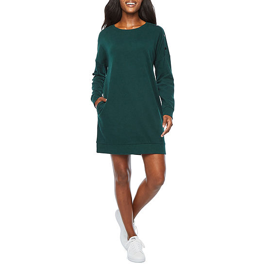 Xersion Long Sleeve Snap Shoulder Dresses