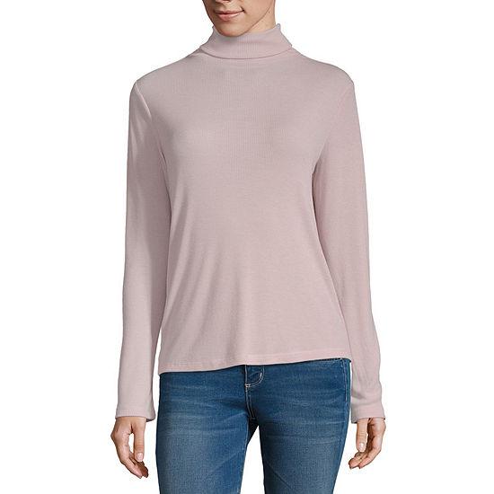 a.n.a Womens Turtleneck Long Sleeve Tunic Top
